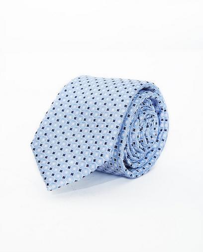 Lichtblauwe zijden das